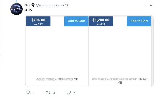Image 2 : Rumeur Threadripper : quelques tarifs exhorbitants sur 2 cartes mères TRX40