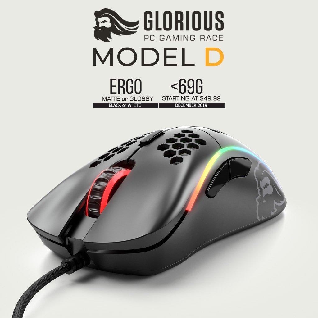 Image 1 : Glorious PC lance une nouvelle souris Model D, toujours ultra-légère