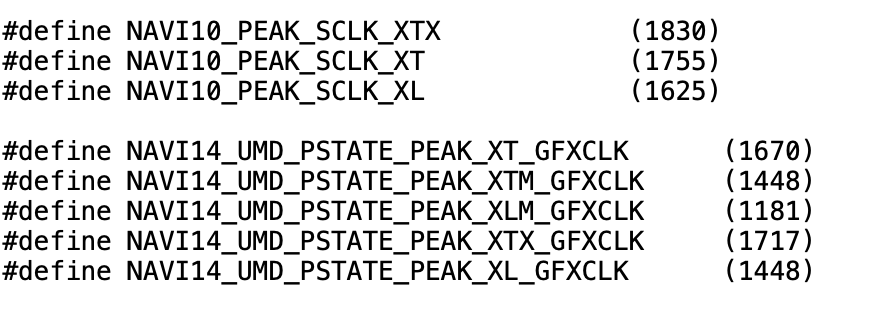 Image 2 : Cinq variantes du GPU Navi 14 dans la nature : deux pour des cartes Radeon RX 5300 ?