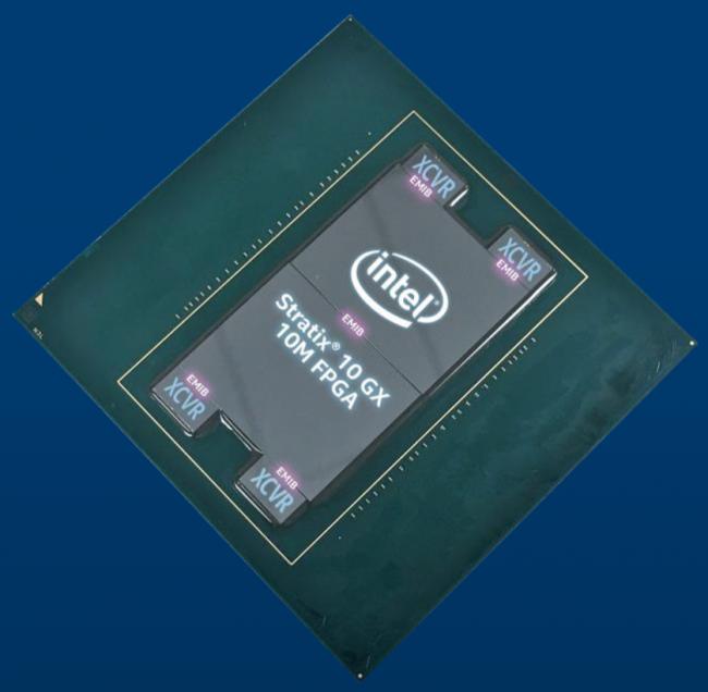 Image 1 : Intel dévoile un énorme FPGA avec 43,3 milliards de transistors !
