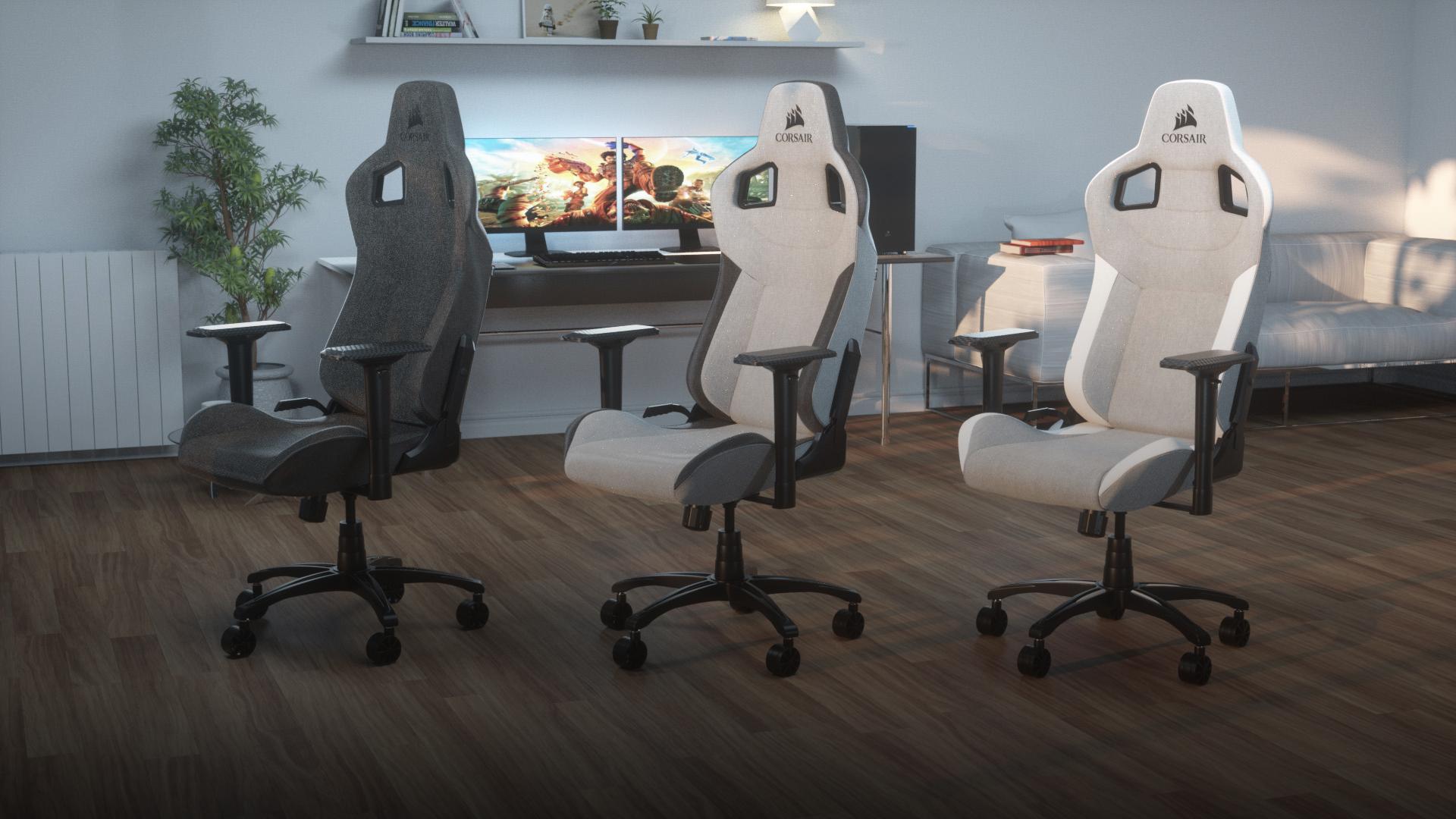 Image 1 : Corsair T3 RUSH : un fauteuil gaming tout en tissu pour vous laisser respirer