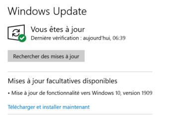 Image 1 : Windows 10 : la grande mise à jour 2H9 disponible, meilleure gestion du CPU