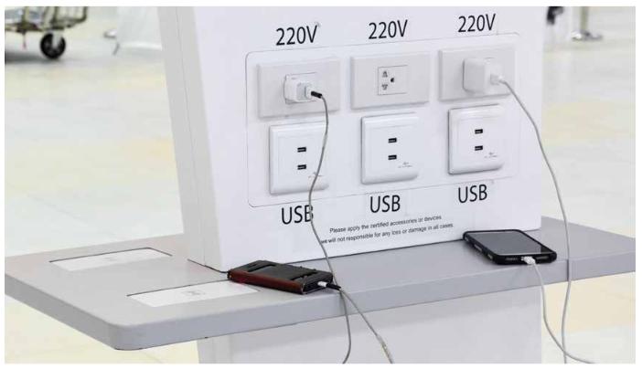 Image 1 : Attention à la charge d'appareils par USB dans les lieux publics