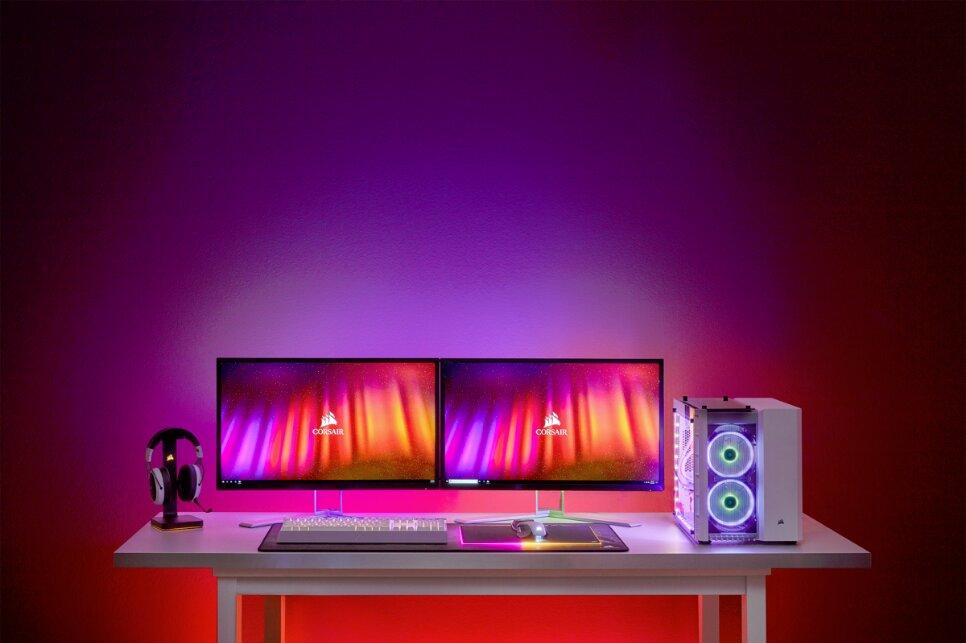 Image 2 : Corsair propose du RGB d'ambiance style 'Ambilight' synchronisé avec l'image