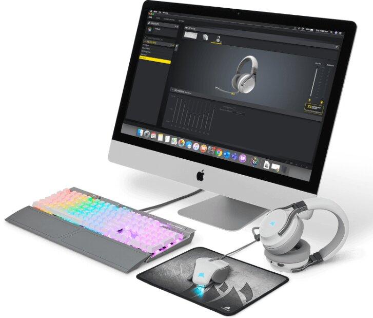 Image 1 : Corsair lance son logiciel iCUE pour gérer son RGB et ses périphériques sur macOS