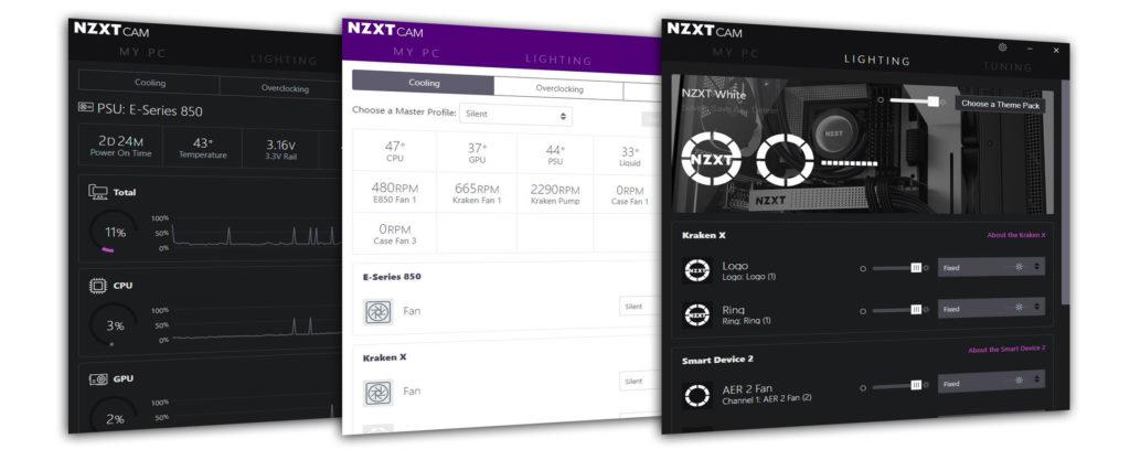 Image 1 : NZXT passe son logiciel de CAM en version 4.0 : plus complet et moins gourmand
