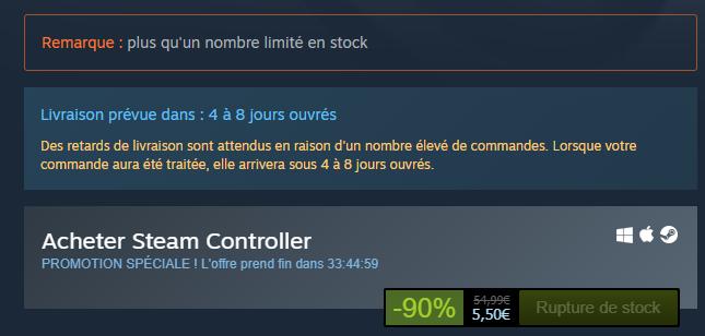 Image 1 : Le Steam Controler disparaît après une ultime promo à 5 euros !