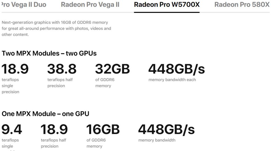 Image 2 : AMD dévoile une Radeon Pro W5700X avec 16 Go de mémoire GDDR6