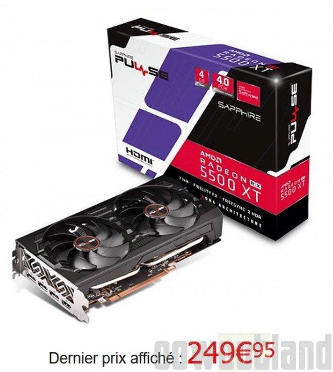 Image 1 : Des premiers prix français pour les Radeon RX 5500 XT, entre 210 et 313 euros