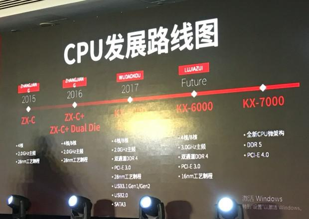 Image 1 : Le fabricant Zhaoxin veut graver ses CPU x86 en 7 nm dès 2021