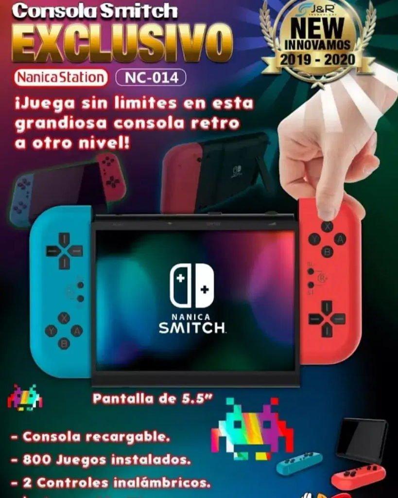 Image 1 : Voici la Nanica Smitch, la console qui se prend pour une Nintendo Switch