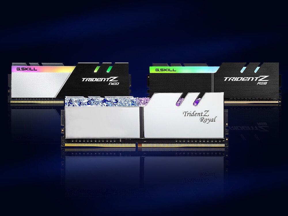 Image 1 : G.Skill propose des barrettes 32 Go en DDR4-3200 et CL14