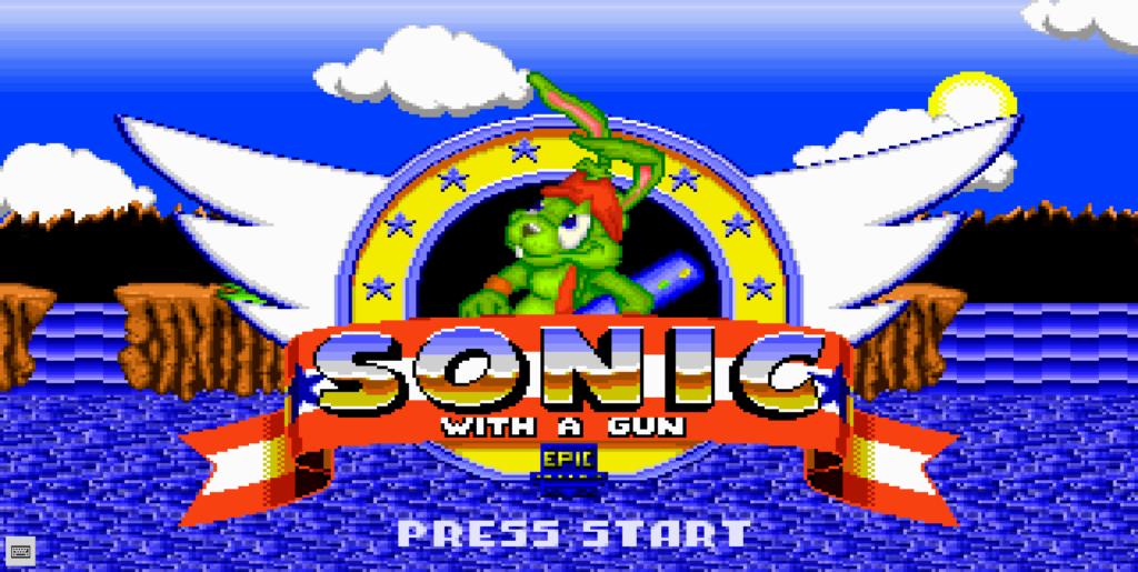 Image 1 : Sonic With A Gun jouable gratuitement sur navigateur !