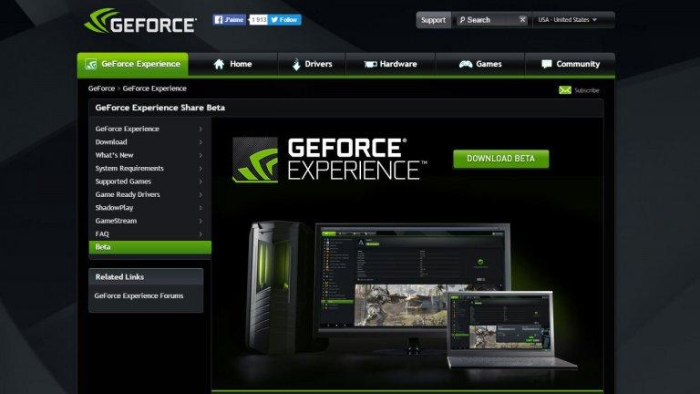 Image 1 : NVIDIA vous invite à mettre immédiatement à jour votre logiciel GeForce Experience