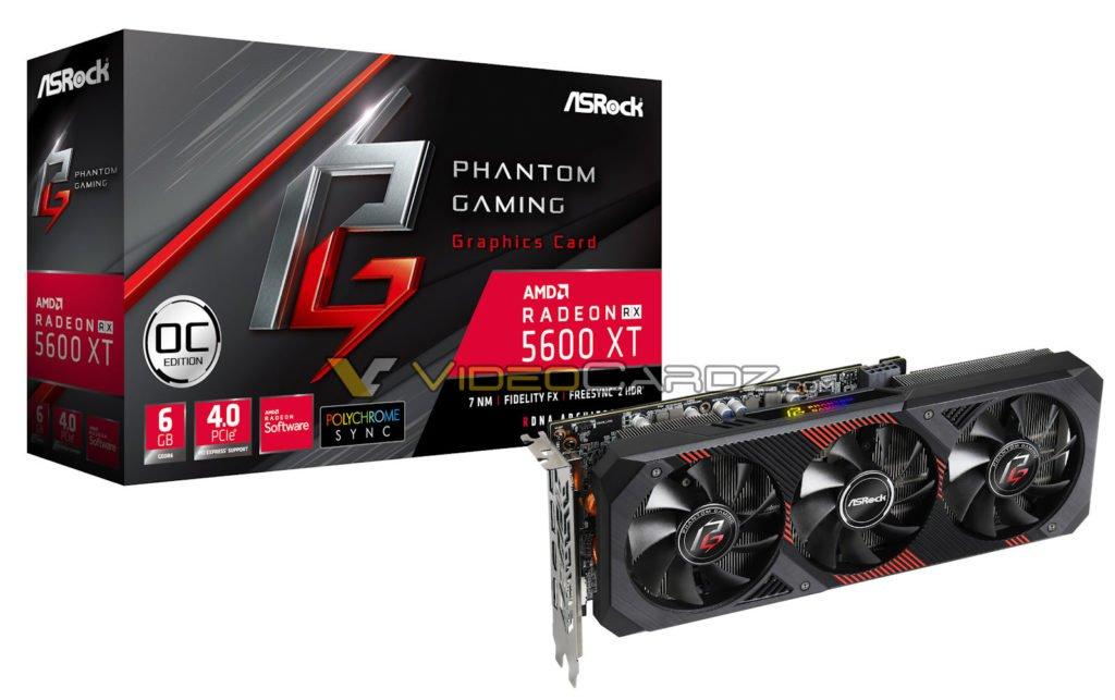 Image 1 : ASRock révèle une Radeon RX 5600 XT Phantom Gaming OC