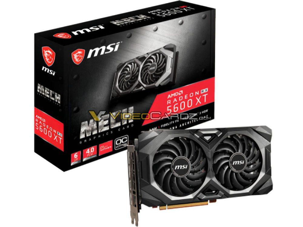 Image 6 : Des images et les spécifications de Radeon RX 5600 XT signées MSI et XFX