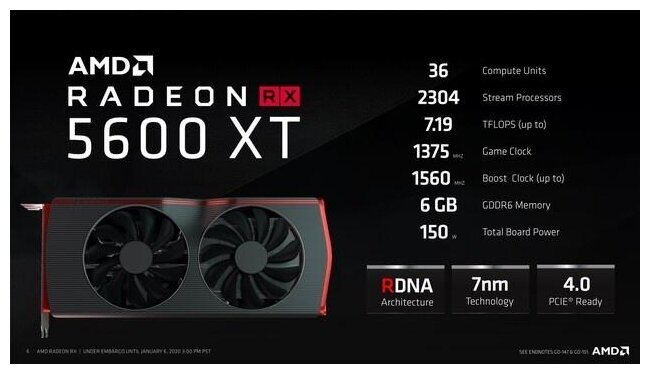Image 1 : AMD présente enfin sa Radeon RX 5600 XT