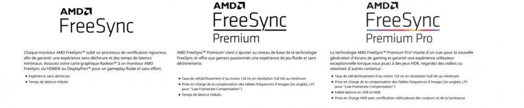 Image 1 : AMD FreeSync désormais divisé en trois labels
