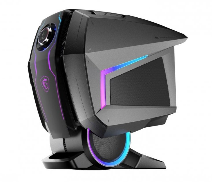 Image 1 : MSI MEG Aegis Ti5, look futuriste pour un PC de compétition
