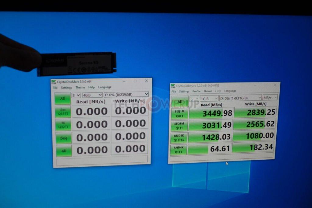 Image 3 : Deux nouveau SSD chez Kingston, un en PCIe 3.0 et l'autre en PCIe 4.0
