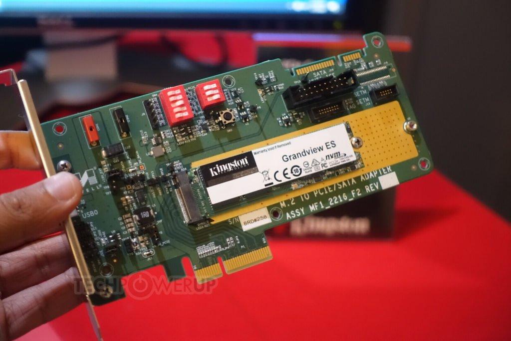 Image 1 : Deux nouveau SSD chez Kingston, un en PCIe 3.0 et l'autre en PCIe 4.0