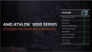 Image 2 : Selon AMD, son Athlon Gold 3150U surpasse largement un Pentium Gold