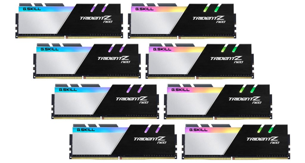 Image 1 : G.Skill propose un kit de 256 Go en DDR4-3600 pour le Ryzen Threadripper 3990X