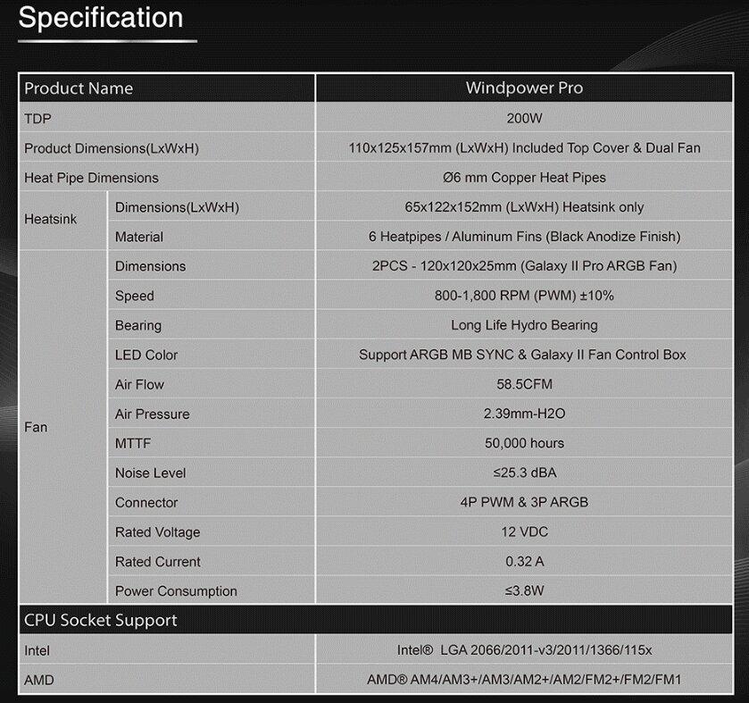 Image 4 : Un dissipateur CPU tout en RGB chez Xigmatek, avec deux ventilateurs de 120 mm