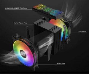 Image 3 : Un dissipateur CPU tout en RGB chez Xigmatek, avec deux ventilateurs de 120 mm