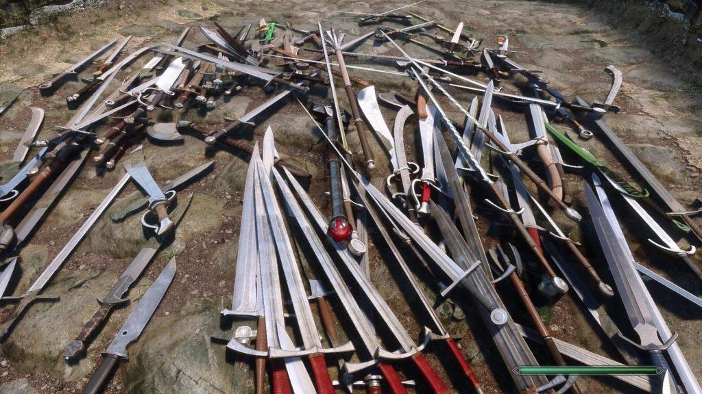 Image 8 : Un pack avec plus d'une centaine d'armes pour Skyrim Special Edition