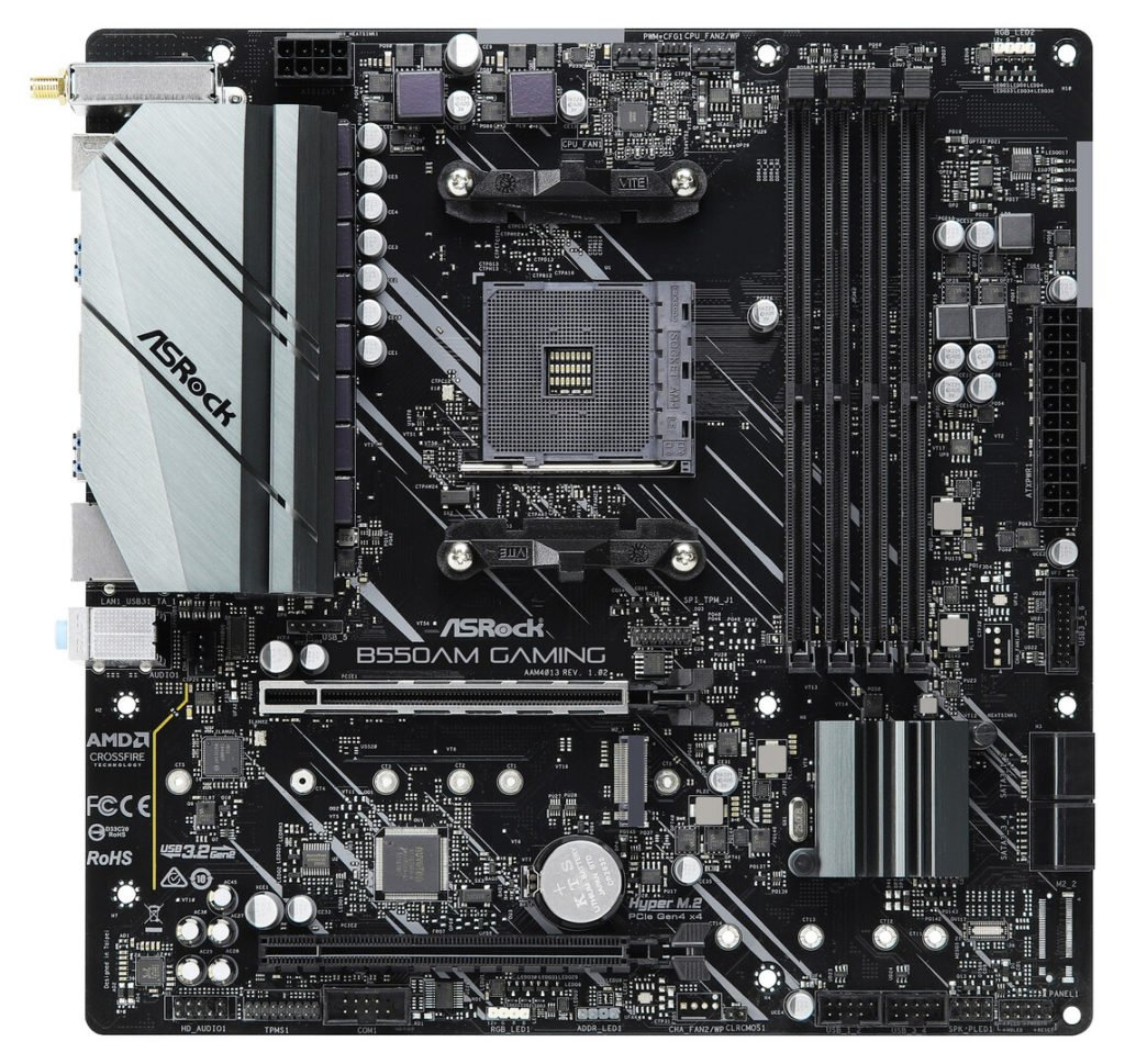 Image 1 : AMD : le PCIe 4.0 est bien présent sur les cartes mères B550A