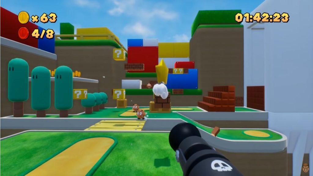 Image 1 : Vidéo : un impressionnant Super Mario Bros en vue FPS sous Unreal Engine 4